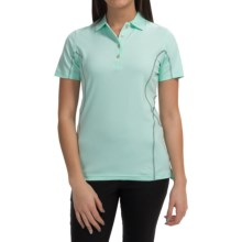 Active Contrast-Seam Polo Shirt - UPF 50+, Short Sleeve (For Women) in Light Green - 2nds