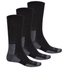 Active Crew Socks - 3-Pack (For Men) in Black - 2nds