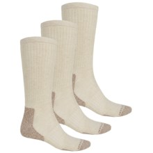Active Crew Socks - 3-Pack (For Men) in Grey/Tan/Natural - 2nds