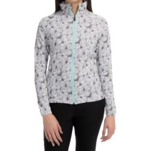 Active Front Printed Jacket - UPF 50+ (For Women) in Smoke - 2nds