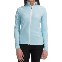 Active Front Printed Jacket - UPF 50+ (For Women) in Wave Blue - 2nds