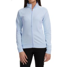 Active Light Cotton Jacket - Full Zip (For Women) in Marina Blue - 2nds