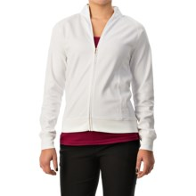 Active Light Cotton Jacket - Full Zip (For Women) in White - 2nds