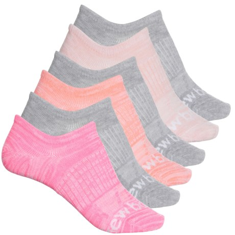 Active Liner Socks - 6-Pack, Below the Ankle (For Women) - GREY MULTI (M ) -  New Balance