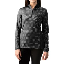 Active Printed Shirt - UPF 50, Zip Neck, Long Sleeve (For Women) in Black - 2nds
