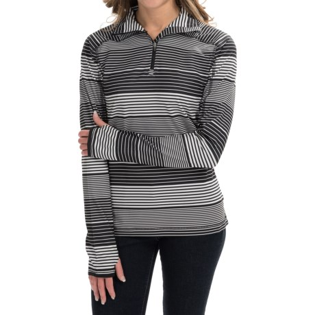 Active Pullover Shirt Zip Neck, Long Sleeve (For Women)