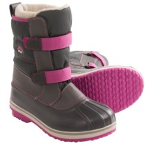 Acton Chill Snow Boots - Waterproof, Insulated (For Kids and Youth) in Grey/Pink - Closeouts