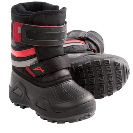 Acton Dribble Winter Boots - Waterproof (For Kids) in Black/Black/Red