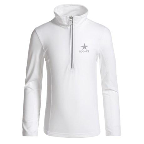 Ada Base Layer Top - Zip Neck, Long Sleeve (For Girls) - WHITE (S ) thumbnail