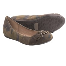 Adam Tucker Adrian Flats - Leather (For Women) in Camo Leather - Closeouts