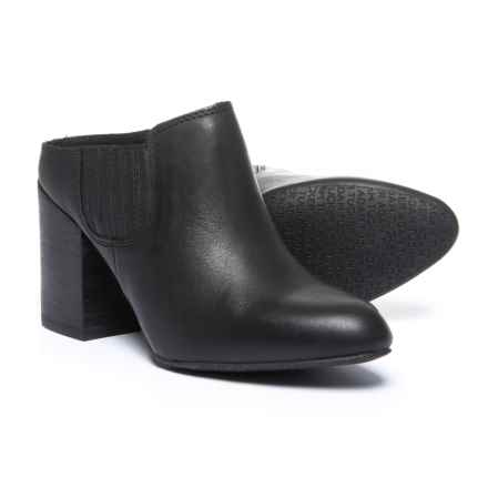 Adam Tucker by Me Too Zinc Open-Back Mule Shoes - Leather (For Women) in Black Leather - Closeouts