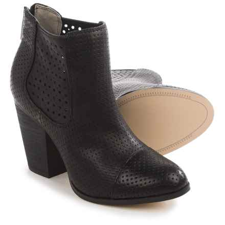 Adam Tucker Frankee Ankle Boots - Leather (For Women) in Black Nappa - Closeouts