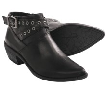 Adam Tucker Riley Ankle Boots - Leather (For Women) in Black Leather - Closeouts