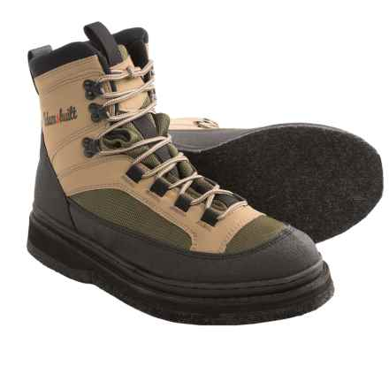 Adams Built Gear Smith River Wading Boots - Felt Sole in Tan/Olive Green - Closeouts