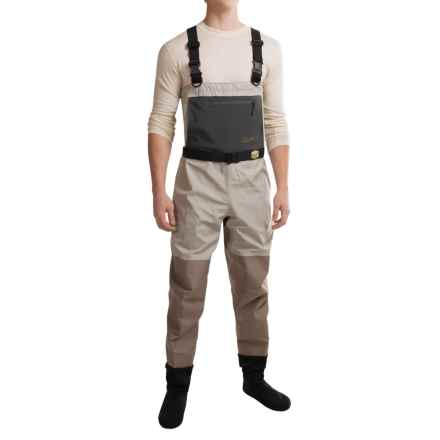 Adamsbuilt Truckee River Chest Waders - Stockingfoot in Grey/Dark Brown - Closeouts