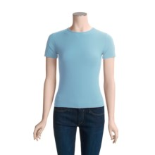 Adea Crew Neck T-Shirt - Short Sleeve (For Women) in Babyblue - Closeouts