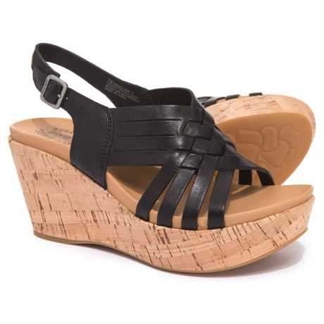 Image of Adelanto Wedge Sling Sandals - Leather (For Women)