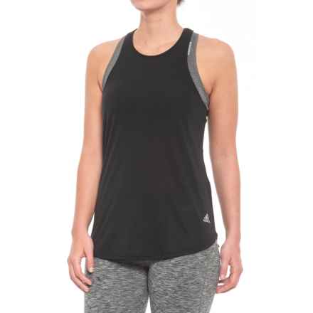 adidas 24-7 Tank Top - Racerback (For Women) in Black - Closeouts