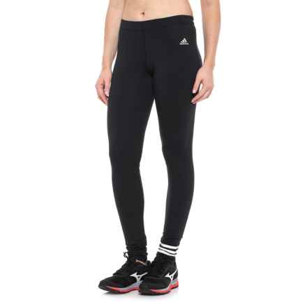 adidas 3 Stripe Cotton Leggings (For Women) in Black - Closeouts