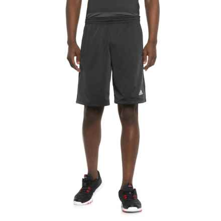 adidas 3-Stripe Inspire Shorts (For Men) in Carbon Black - Closeouts