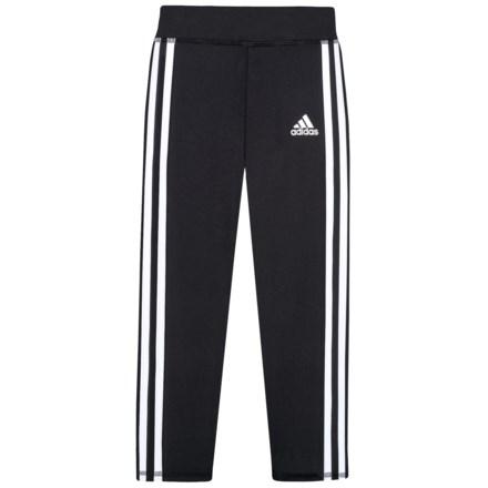 5f90ea8851c adidas 3-Stripe Leggings (For Little Girls) in Black W/White -