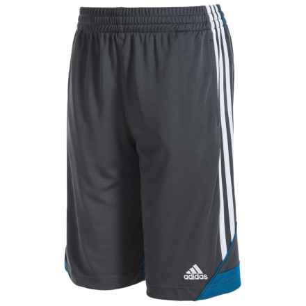 adidas 3G Speed Shorts (For Big Boys) in Dark Grey/Blue - Closeouts