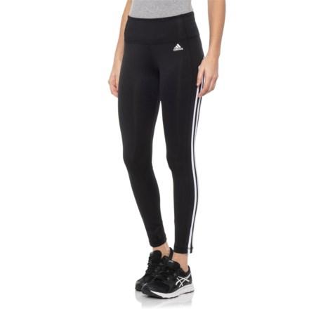 f98da755c1eb7 adidas 3S 7/8 Tights (For Women) in Black/White - Closeouts