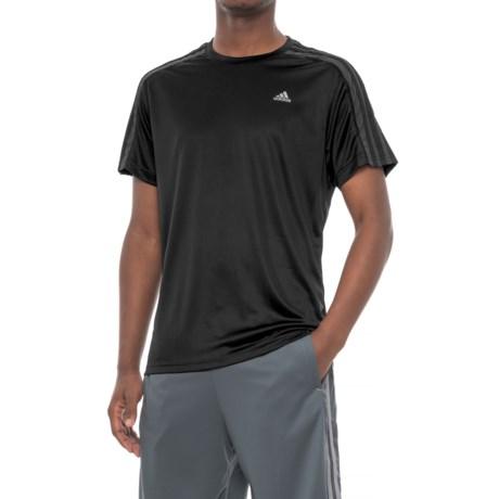 adidas 3S Athletic T-Shirt - Short Sleeve (For Men) in Black/Dark Grey