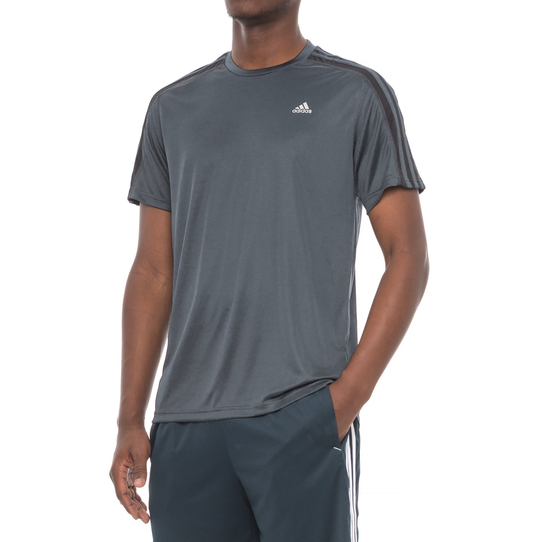 adidas 3S Athletic T-Shirt - Short Sleeve (For Men) in Dark Grey ...