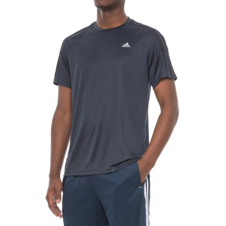 adidas 3S Athletic T-Shirt - Short Sleeve (For Men) in Night Navy/ Black Stripes