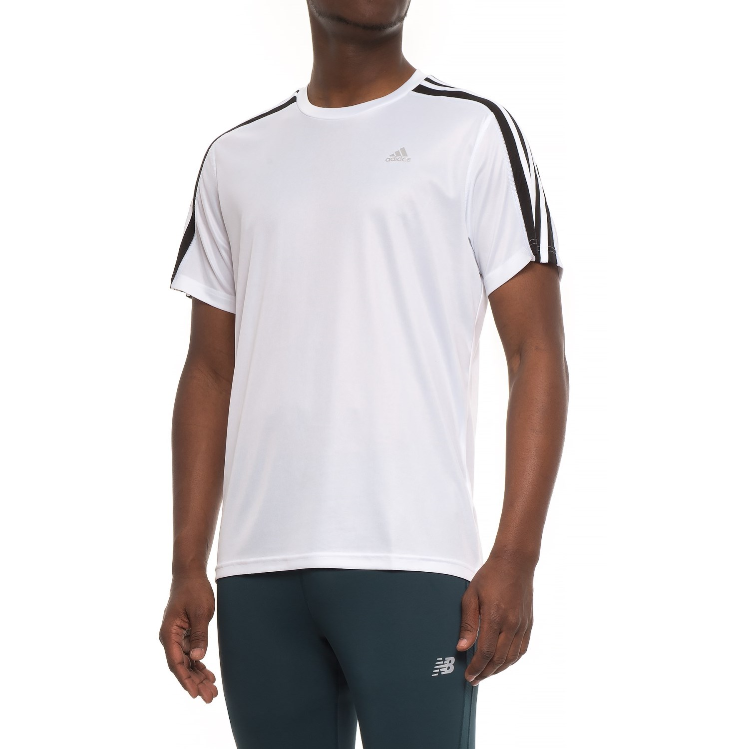 d8598ffd1ab3b0 adidas 3S Athletic T-Shirt - Short Sleeve (For Men) in White  ...
