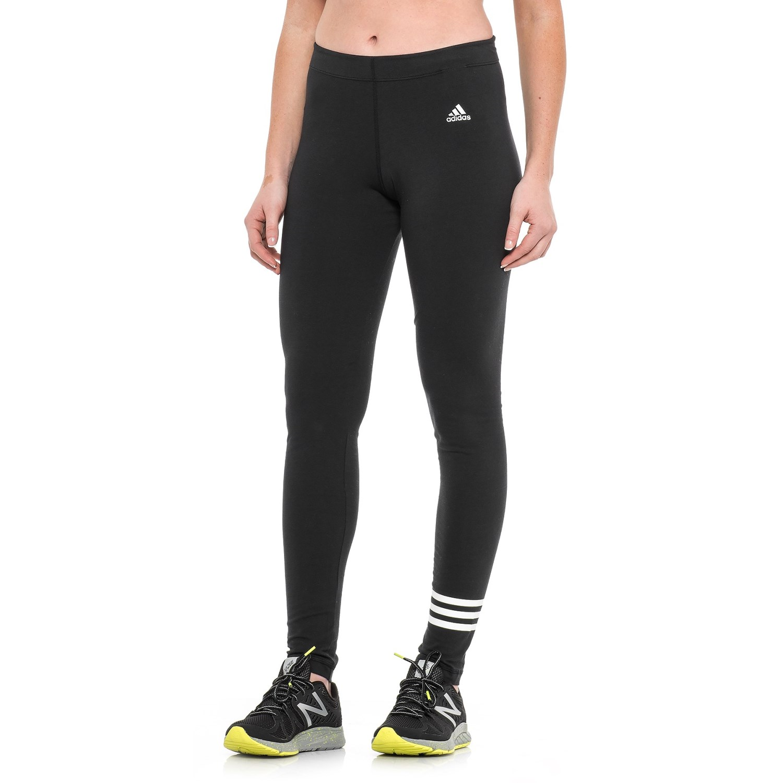 77293856ffd adidas 3S Cotton Leggings (For Women) in Black White ...