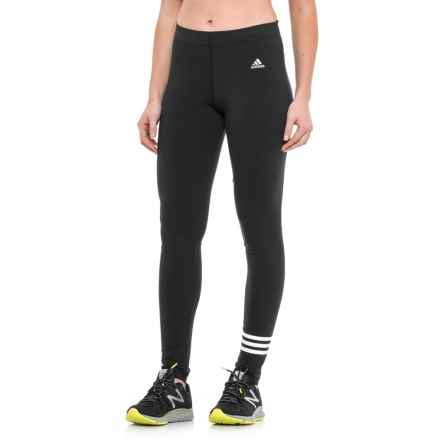 adidas 3S Cotton Leggings (For Women) in Black - Closeouts