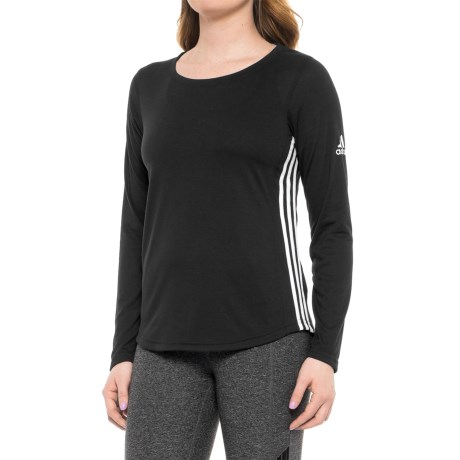 adidas 3S Shirt - Long Sleeve (For Women) in Black