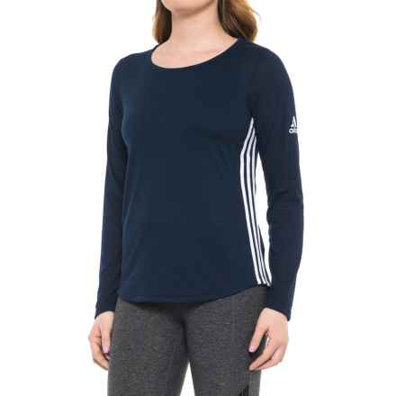 adidas 3S Shirt - Long Sleeve (For Women) in Navy - Closeouts