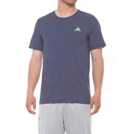 adidas 60/40 T-Shirt - Short Sleeve (For Men) in Medium Indigo - Closeouts