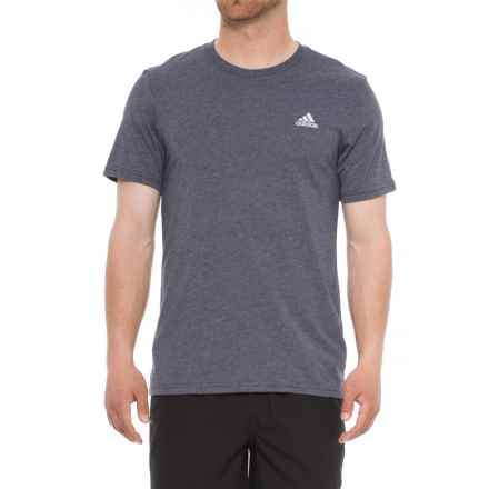 adidas 60/40 T-Shirt - Short Sleeve (For Men) in Night Navy Heather - Closeouts