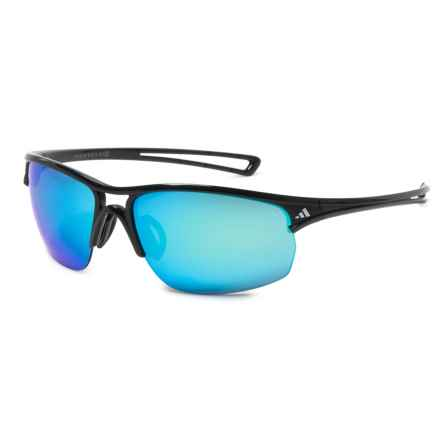 adidas A404 Raylor L Sport Sunglasses in Shiny Black/ Gray - Closeouts