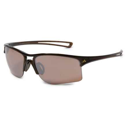 adidas A404 Raylor L Sport Sunglasses in Shiny Brown/ Lst Contrast Silver - Closeouts