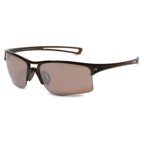 adidas A404 Raylor L Sport Sunglasses in Shiny Brown/ Lst Contrast Silver