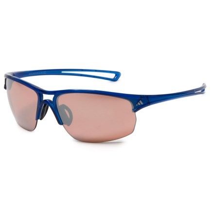 adidas A404 Raylor L Sport Sunglasses in Transparent Blue  Lst Active  Silver - Closeouts 307ba38557b2a