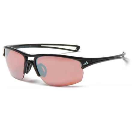 adidas A405 Raylor S Sport Sunglasses in Shiny Black/Lst Active Silver - Closeouts
