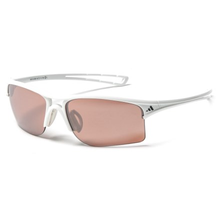 1a72cad6d0 adidas A405 Raylor S Sport Sunglasses in Shiny White Lst Active Silver -  Closeouts