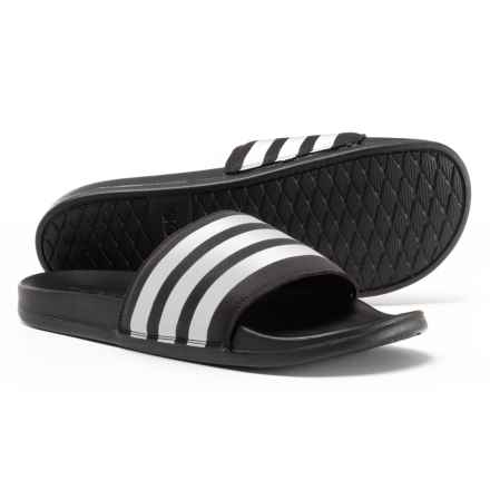 adidas Adilette Cloudfoam® Plus Slide Sandals (For Men) in Black/White/Black - Closeouts