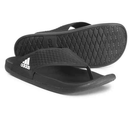 adidas Adilette Cloudfoam® Ultra Y Flip-Flops (For Men) in Black/White/Black - Closeouts