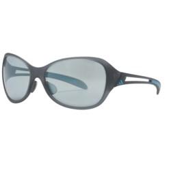 Adidas Adilibria Full Rim Sunglasses in Matte Gray/Turquoise/Grey Mettalic