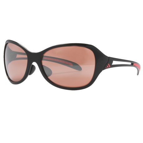 Adidas Adilibria Full Rim Sunglasses in Shiny Black/Pink/Lst Active Silver