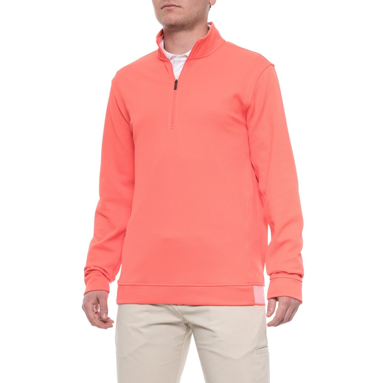 e8e4a0c0322397 adidas Adipure Layering Shirt - Zip Neck (For Men) in Bahia Coral ...