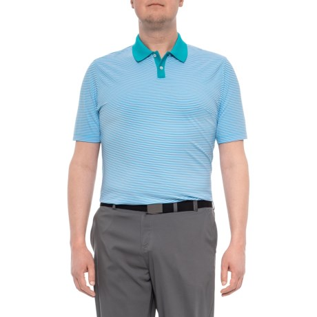 e4cdf6c2 adidas Adipure Solid Polo Shirt - Short Sleeve (For Men) in Energy Blue