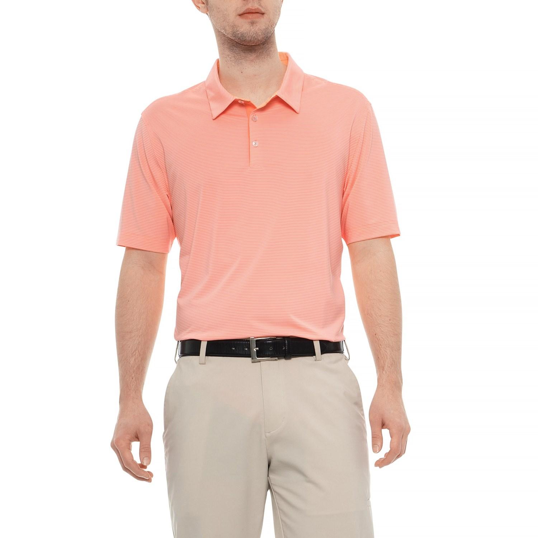 00b35027962e3 adidas Adipure Stripe Polo Shirt- Short Sleeve (For Men) - Save 76%